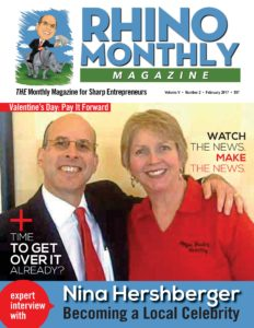 Nina Hershberger & Steve Sipress - Rhino Monthly Magazine February 2017