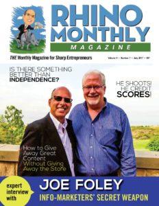 Steve Sipress and Joe Foley - Rhino Monthly Magazine July 2017
