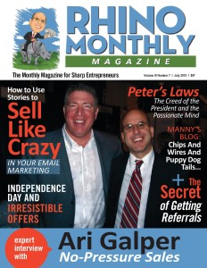 Ari Galper & Steve Sipress - Rhino Monthly Magazine - July 15 cover