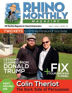 Colin Theriot & Steve Sipress - Rhino Monthly Magazine May 2016