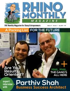 Parthiv Shah & Steve Sipress - Rhino Monthly Magazine July 2016
