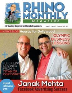Janak Mehta & Steve Sipress - Rhino Monthly Magazine September 2016 Cover