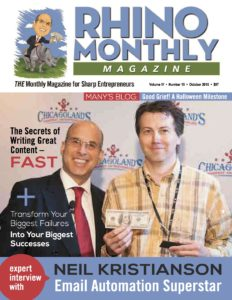 Neil Kristianson & Steve Sipress - Rhino Monthly Magazine October 2016