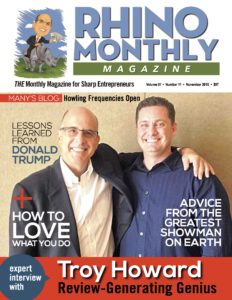 Troy Howard & Steve Sipress - Rhino Monthly Magazine November 2016