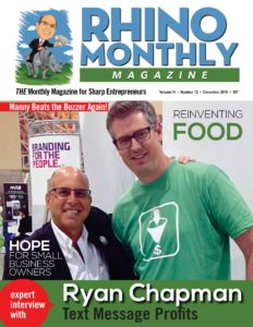 Ryan Chapman & Steve Sipress - Rhino Monthly Magazine December 2016