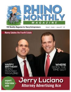 Steve Sipress & Jerry Luciano - Rhino Monthly Magazine January 2017