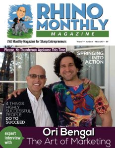 Ori Bengal & Steve Sipress - Rhino Monthly Magazine March 2017