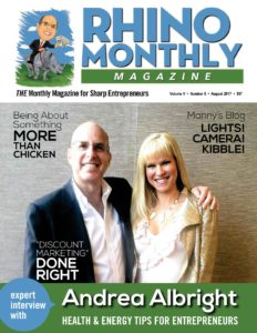 Steve Sipress and Andrea Albright - Rhino Monthly Magazine August 2017