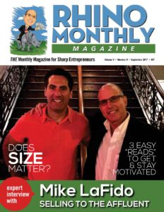 Mike LaFido & Steve Sipress - Rhino Monthly Magazine September 2017