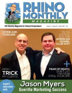 Steve Sipress & Jason Myers - Rhino Monthly Magazine October 2017