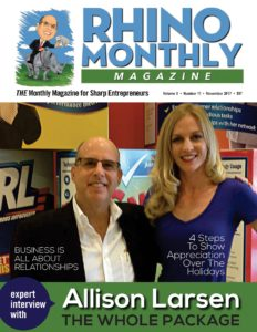 Steve Sipress & Allison Larsen - Rhino Monthly Magazine November 2017