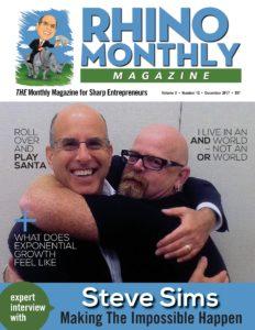 Steve Sims & Steve Sipress - Rhino Monthly Magazine December 2017 Cover